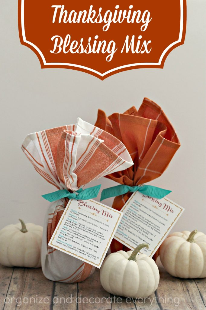 Thanksgiving Blessing Mix with free Printable Tag