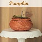 Wicker Basket Pumpkin and Fall Harvest Hop