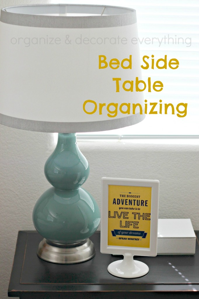 bed side table organizing