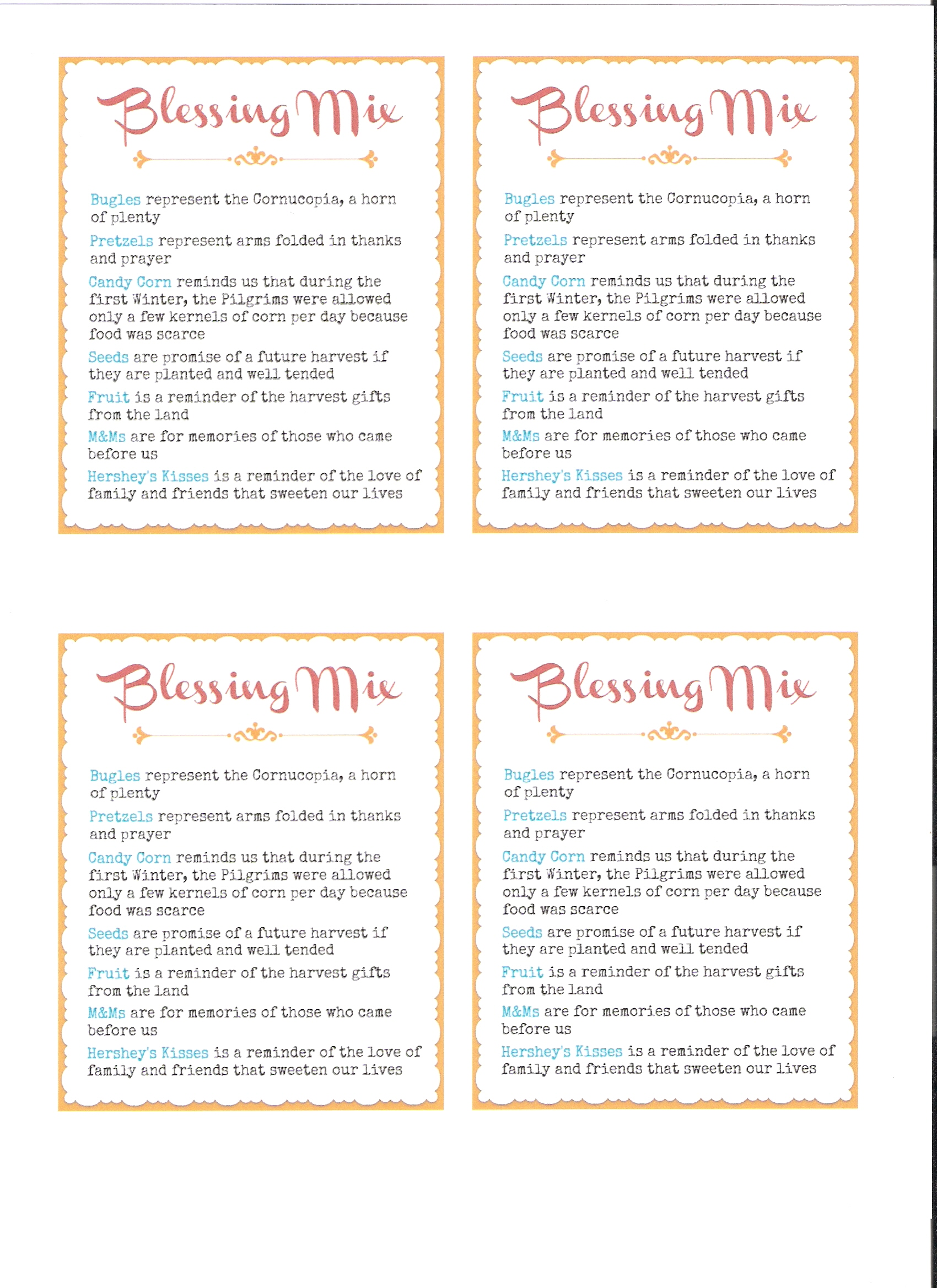 picture relating to Blessings Jar Printable identified as Thanksgiving Blessing Incorporate - Set up and Beautify Just about anything