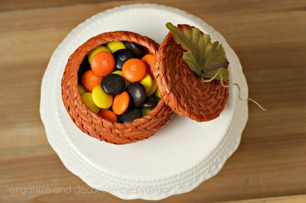 Wicker basket Pumpkin 9