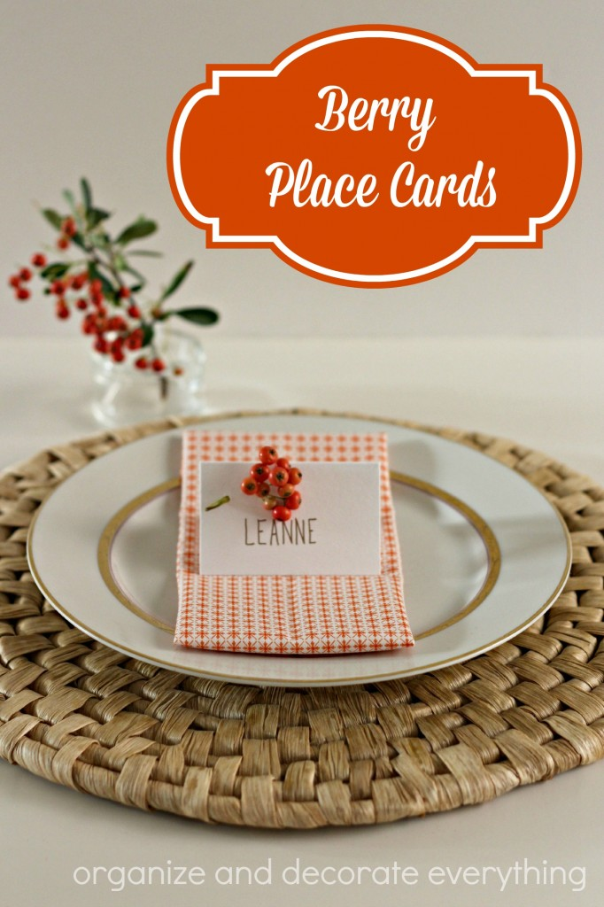 Berry Place Cards - Organize and Deocrate Everything