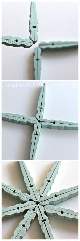Clothespin Snowflake Ornament 21.1