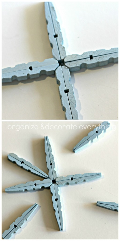 Clothespin Snowflake Ornament 22.1