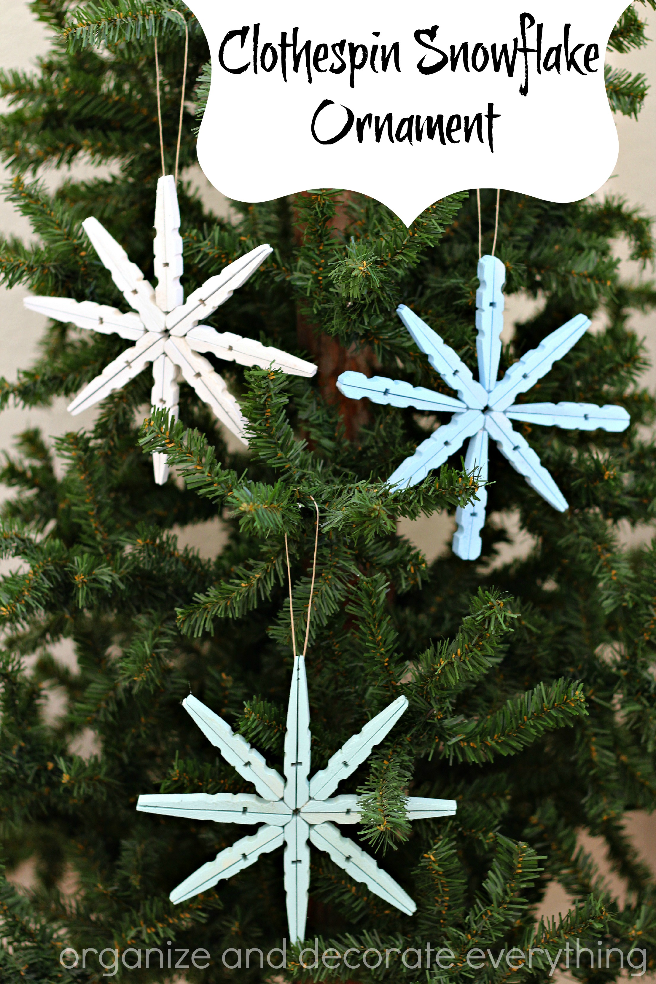 Clothespin Snowflake Ornament Tutorial - U Create