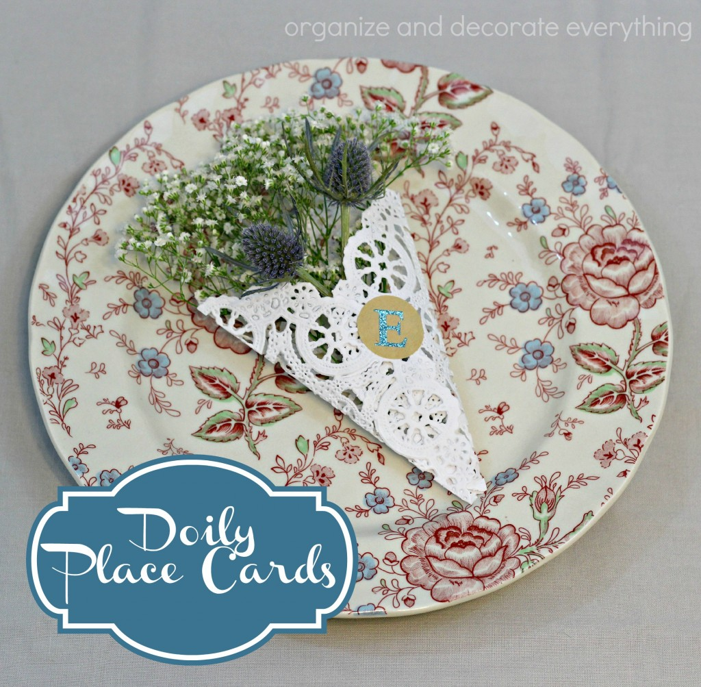Doily Place Cards - Organize and Decorate Everything