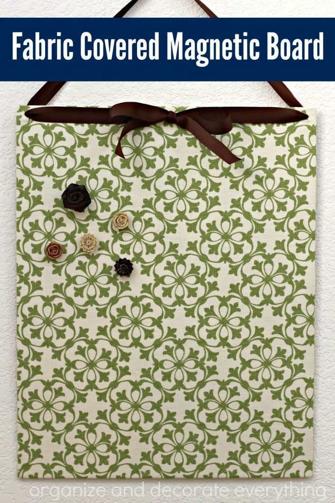 Fabric COvered Magnetic Board pinterest