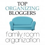 Top Organizing Bloggers Family Room Tour – DVD Storage and More