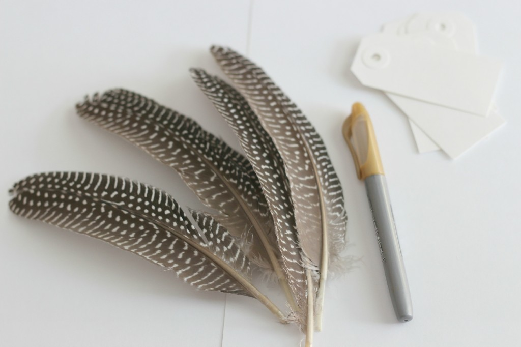 Feather Place Cards 2