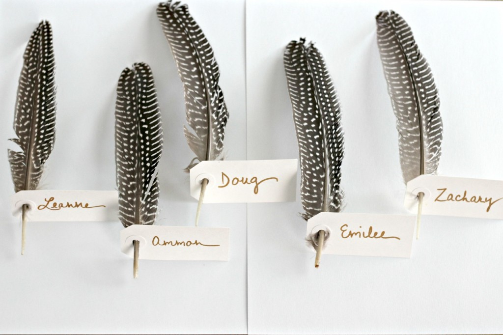 Feather Place Cards 3
