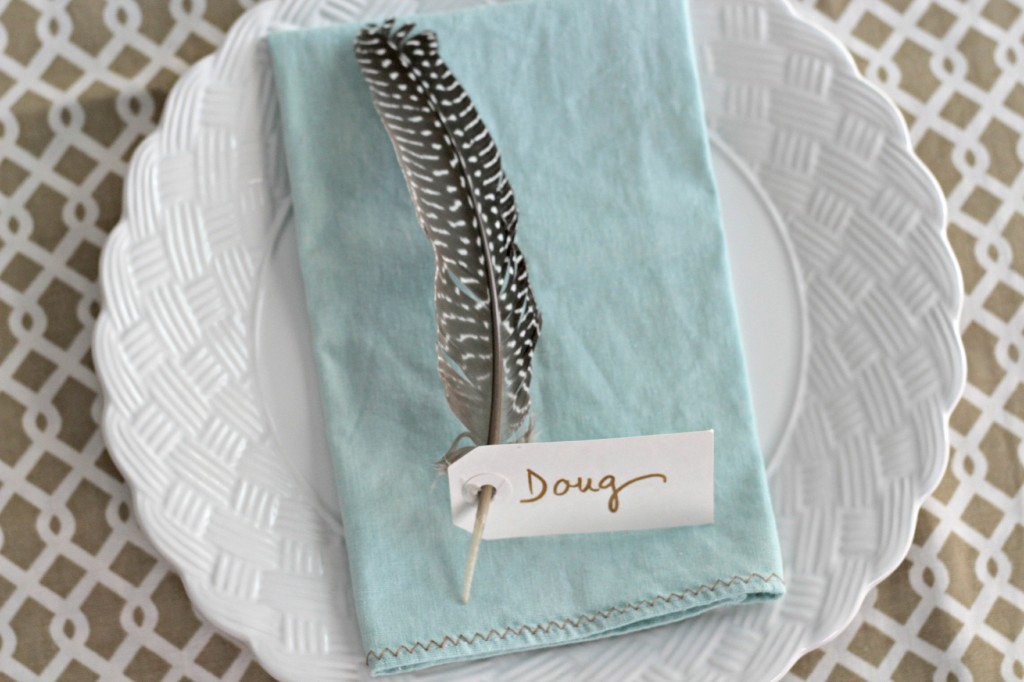 Feather Place Cards 6