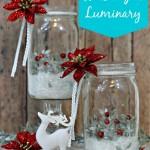 Holiday Mason Jar Luminary