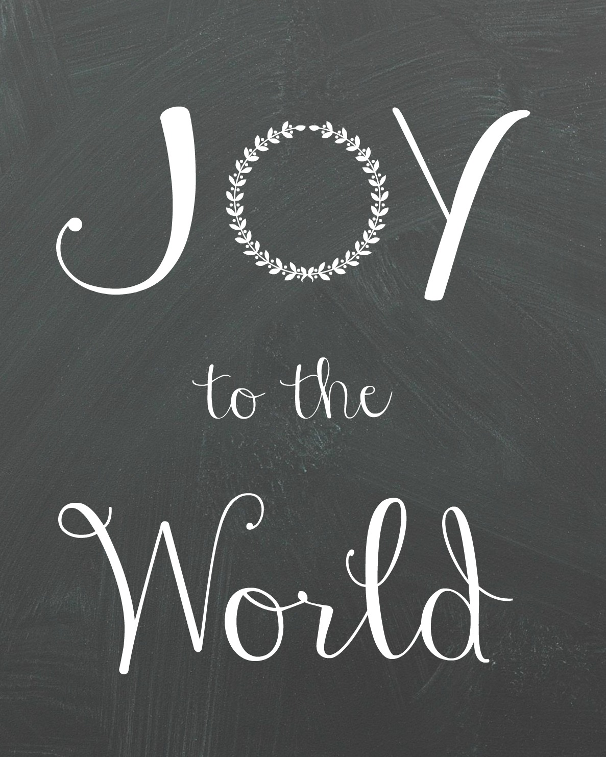 Joy to the World Printable - Organize and Decorate Everything