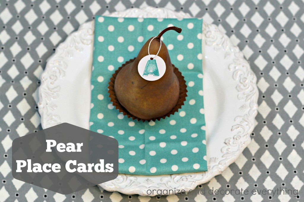 Pear Place Cards - Organize and Decorate Everything