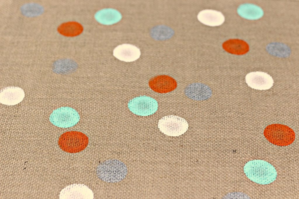 Polka Dot Burlap Table Runner