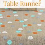 Polka Dot Burlap Table Runner