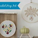 Thanksgiving Stenciled Hoop Art