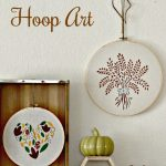 Stenciled Hoop Art