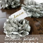Tissue Paper Pom-Pom Place Card Holders