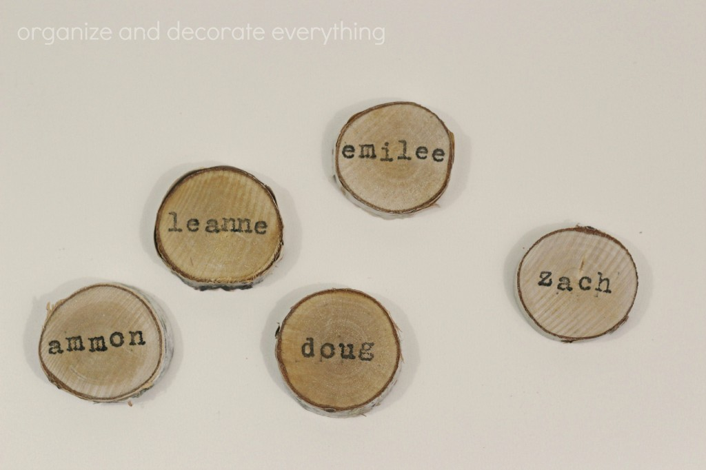 Wood Slice Place Cards 5.1