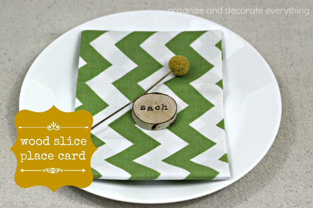 Wood Slice Place Cards - Organize and Decorate Everything