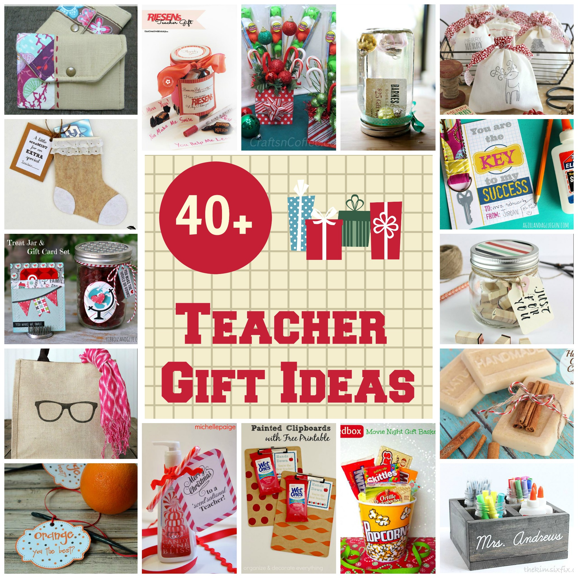 Classroom Keepsake Ideas ~ Christmas gift ideas for teachers organize and