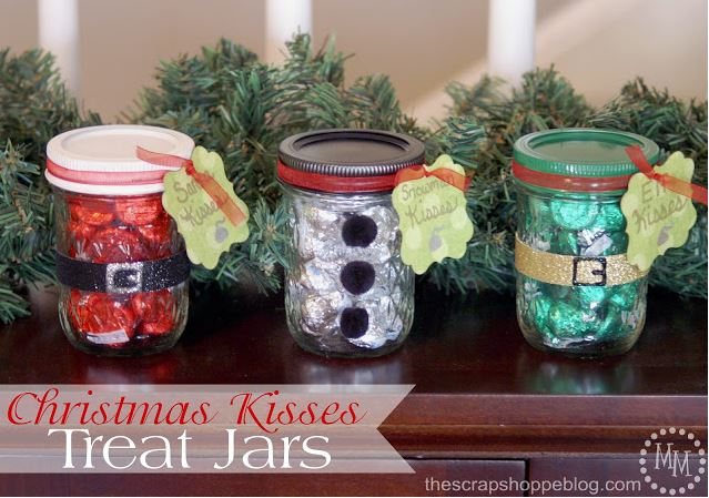 Chrsitmas Kisses Treat Jars