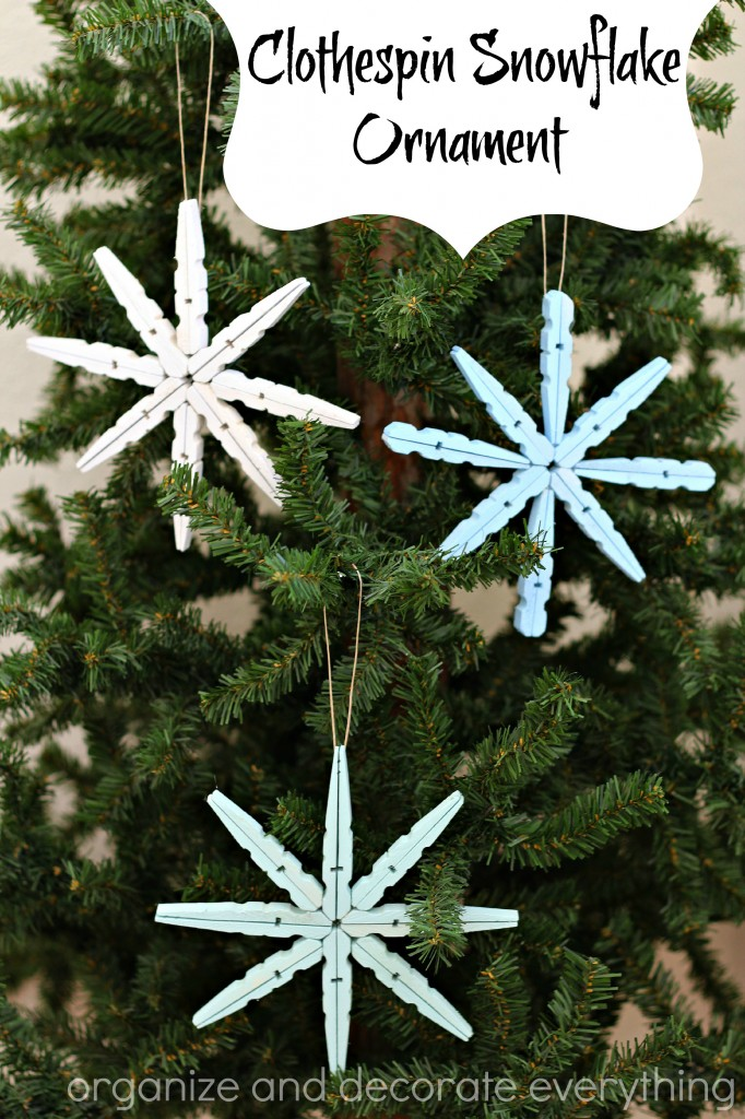 Clothespin Snowflake Ornament - Organize and Decorate Everything