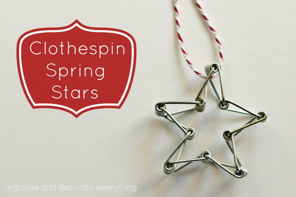 Clothespin Spring Stars - Organize and Decorate Everything