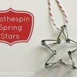 Clothespin Spring Stars