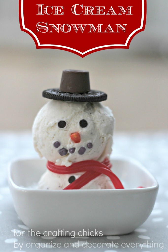 Ice Cream Snowman - Organize and Decorate Everything 2