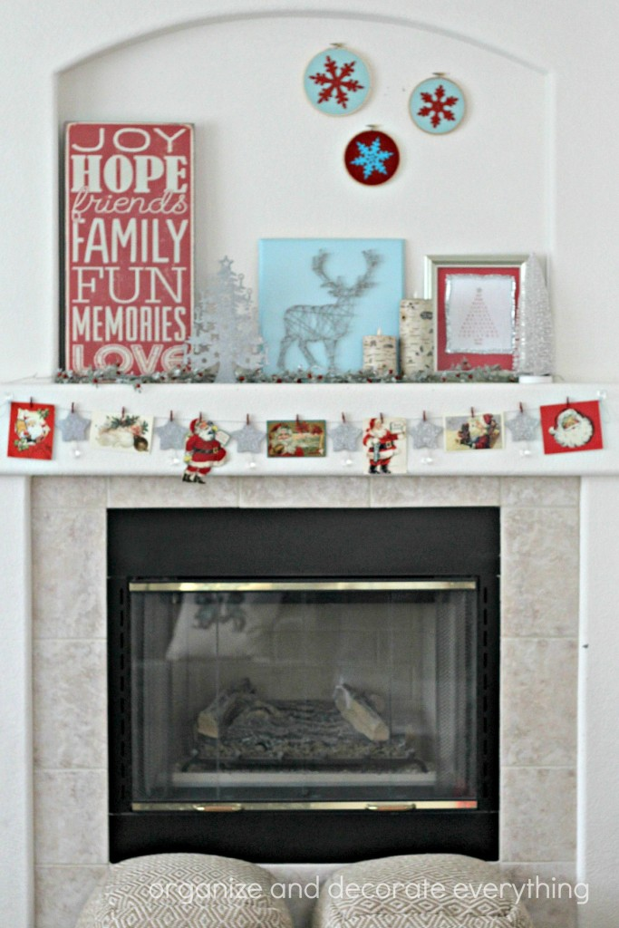 Red, Blue, Silver Mantel 6.1