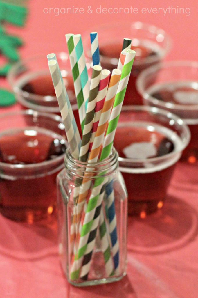 striped straws for party