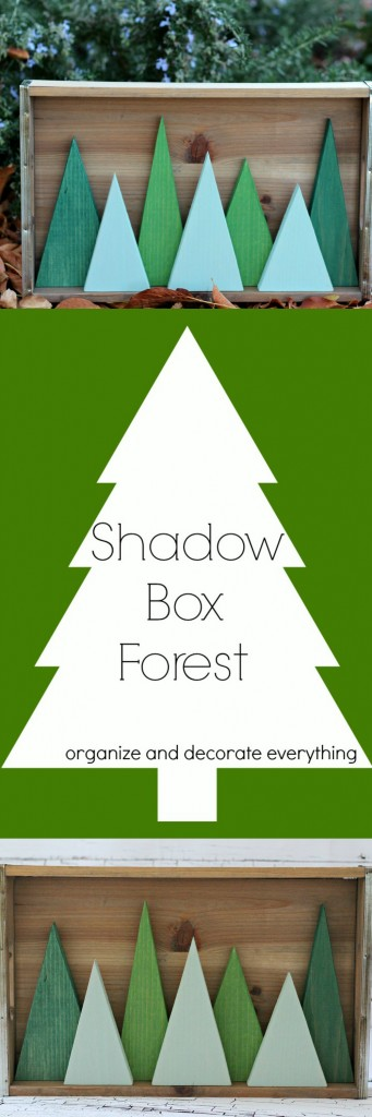 Shadow Box Forest by Organize and Decorate Everything