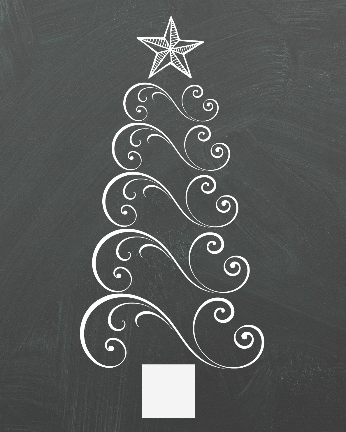 Swirly Christmas Tree Chalkboard Printable - Organize and ...