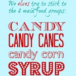 Elves Food Groups Printable