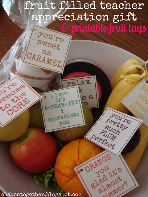fruit filled teacher gift