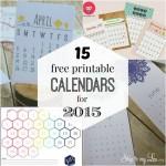 15 Free Printable Calendars for 2015