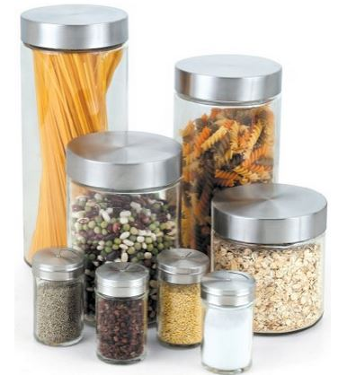 Glass Canisters U2013 I Like Using Glass Or Clear Containers In The Pantry And  Also On The Kitchen Counter. I Started Taking Food Out Of Their Packaging  And ...