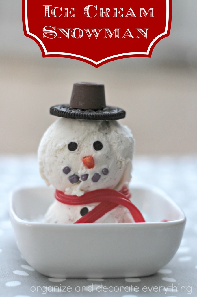 Ice Cream Snowman - Organize and Decorate Everything