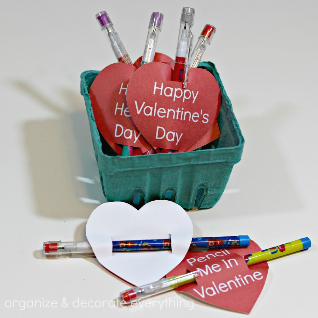 Pencil Valentine with free Printable 4.1