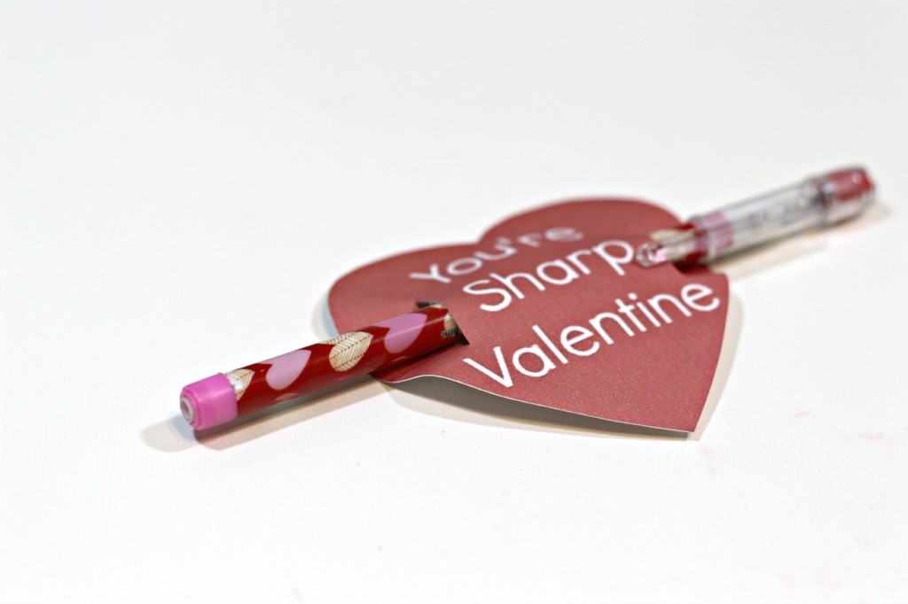 Pencil Valentine with free Printable 5
