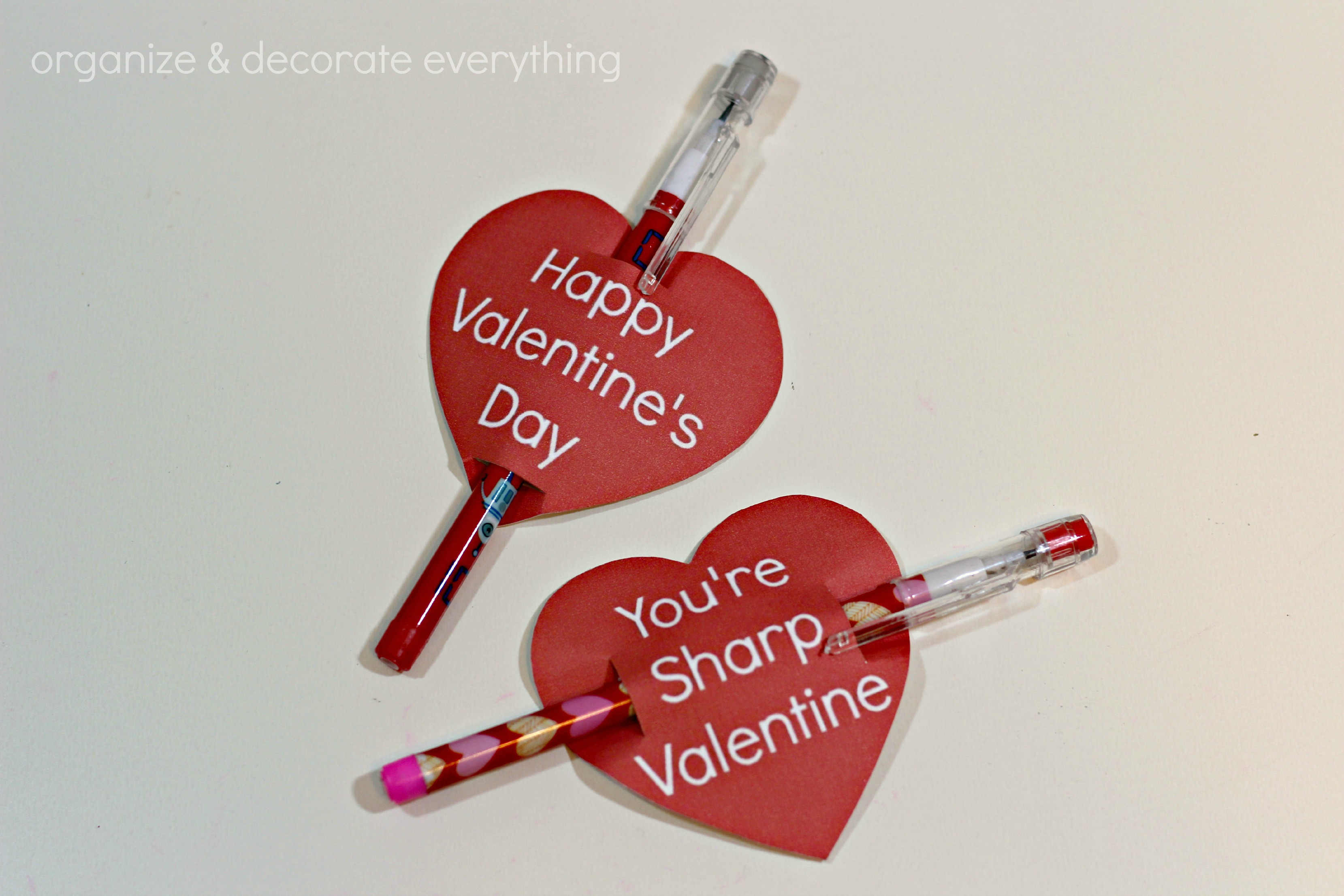 graphic relating to Pencil Valentine Printable named Pencil Valentine with no cost Middle Printables - Set up and