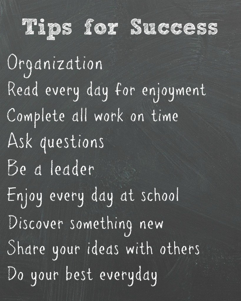 School tips for success