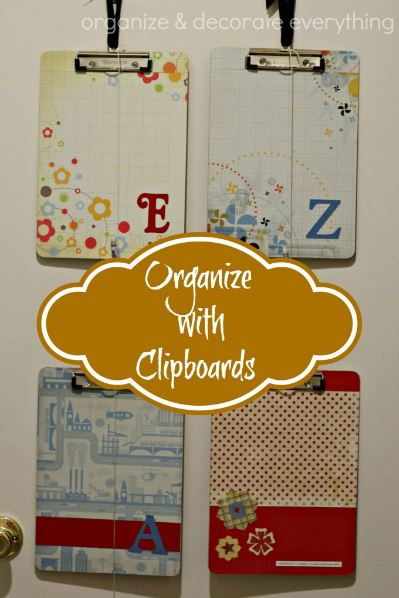organizing clipboards