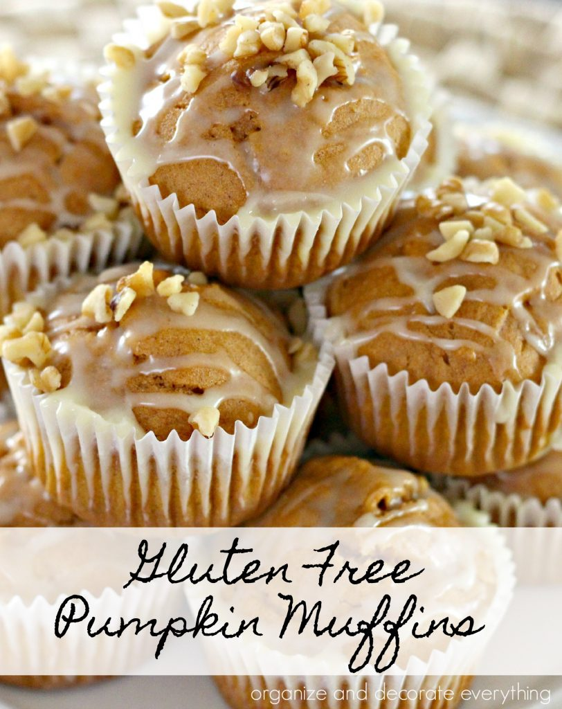 Easy Gluten Free Pumpkin Muffins that start with a cake mix