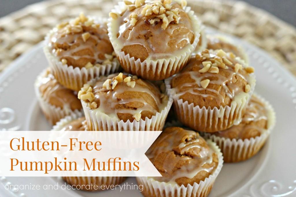 Gluten Free Pumpkin Muffins with Orange Glaze