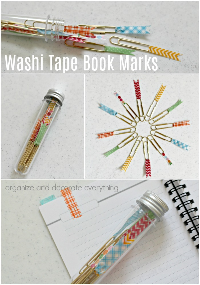 Washi Tape Book Marks craft ideas