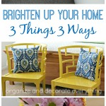 Brighten Your Home With Spring Decor – 3 Things 3 Ways