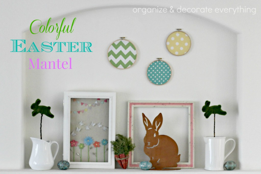 Colorful Easter Mantel.1
